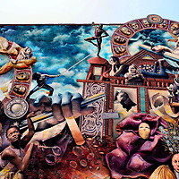 Theatre of Life Mural by Meg Saligman and Juan Dimida in Philadelphia, Pennsylvania<br />