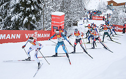 16.12.2017, Nordische Arena, Ramsau, AUT, FIS Weltcup Nordische Kombination, Langlauf, im Bild v. l.: Magnus Moan (NOR), Francois Braud (FRA), Wilhelm Denifl (AUT) und andere Teilnehmer // f. l.: Magnus Moan of Norway, Francois Braud of France, Wilhelm Denifl of Austria and other competitors during Cross Country Competition of FIS Nordic Combined World Cup, at the Nordic Arena in Ramsau, Austria on 2017/12/16. EXPA Pictures © 2017, PhotoCredit: EXPA/ Martin Huber