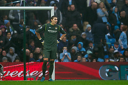08.01.2012, Etihad Stadion, Manchester, ENG, PL, Manchester City vs Manchester United, 3. Runde, im Bild Manchester City's goalkeeper Costel Pantilimon looks dejected as Manchester United score the third goal against Manchester City during the football match of English FA Cup, 3rd round, between Manchester City and Manchester United at Etihad Stadium, Manchester, United Kingdom on 2012/01/08. EXPA Pictures © 2012, PhotoCredit: EXPA/ Propagandaphoto/ David Rawcliff..***** ATTENTION - OUT OF ENG, GBR, UK *****
