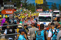 Col du Semnoz, France - Tour de France :: Stage 20 - 20th July 2013 - The finish before the peloton arrives
