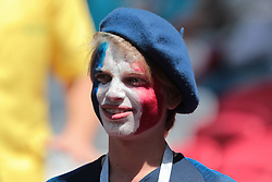 June 16, 2018 - Kazan, U.S. - KAZAN, RUSSIA - JUNE 16: Fan of France during a Group C 2018 FIFA World Cup soccer match between France and Australia on June 16, 2018, at the Kazan Arena in Kazan, Russia. (Photo by Anatoliy Medved/Icon Sportswire) (Credit Image: © Anatoliy Medved/Icon SMI via ZUMA Press)