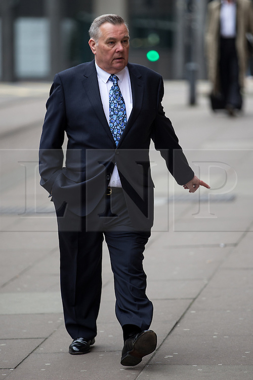 © Licensed to London News Pictures . 17/04/2014 . Manchester , UK . ALAN LEDGER arrives for a plea and case management hearing at Minshull Street Crown Court , Manchester , this morning (17th April 2014) . He is charged alongside Ray Teret and William Harper with historic sex offences . Photo credit : Joel Goodman/LNP