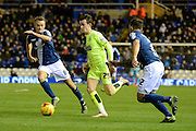 Huddersfield Town defender Ben Chilwell bursts forward during the Sky Bet Championship match between Birmingham City and Huddersfield Town at St Andrews, Birmingham, England on 5 December 2015. Photo by Alan Franklin.