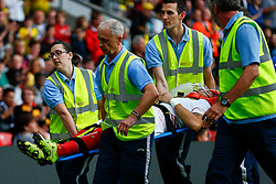 Ciro Immobile of Sevilla injured is stretched of the pitch - Mandatory by-line: Jason Brown/JMP - Mobile 07966 386802 31/07/2015 - SPORT - FOOTBALL - Watford, Vicarage Road - Watford v Sevilla - Pre-Season Friendly