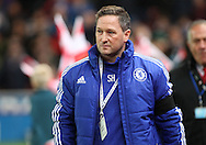 Steve Holland, assistant first team coach of Chelsea, on the touchline prior to the Barclays Premier League match against Stoke City at the Britannia Stadium, Stoke-on-Trent.<br /> Picture by Michael Sedgwick/Focus Images Ltd +44 7900 363072<br /> 07/11/2015