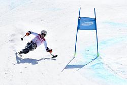 RABL Roman LW12-1 AUT competing in ParaSkiAlpin, Para Alpine Skiing, Super G at PyeongChang2018 Winter Paralympic Games, South Korea.