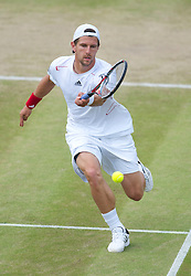 LONDON, ENGLAND - Friday, June 25, 2010: Jurgen Melzer (AUT) during the Gentlemen's Singles 3rd Round on day five of the Wimbledon Lawn Tennis Championships at the All England Lawn Tennis and Croquet Club. (Pic by David Rawcliffe/Propaganda)