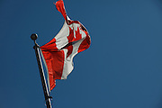 Canadian flag flying in Winnipeg on Canada Day 2009