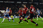 Simon Francis (2) of AFC Bournemouth and Philip Billing (29) of AFC Bournemouth look for an opening during the Premier League match between Bournemouth and Brighton and Hove Albion at the Vitality Stadium, Bournemouth, England on 21 January 2020.