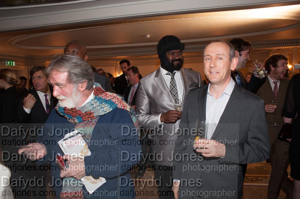 TOM PHILLIPS; GREGORY PORTER; , The Sky South Bank Arts Awards, Dorchester Hotel , Park Lane, London. 1 May 2012.