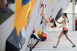 Klara Jovan (SLO) at Semifinal of Climbing event - Triglav the Rock Ljubljana 2018, on May 19, 2018 in Congress Square, Ljubljana, Slovenia. Photo by Urban Urbanc / Sportida