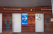 male, female and handicap toilet in Japan