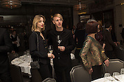 LAURA KADING; RICHIE HAWTINS, Anish Kapoor and Lee Ufan preview dinner hosted by the Lisson Gallery after the opening on Bell St. The Connaught. London. 23 March 2015