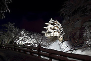 Photo shows Hirosaki Castle blanketed in snow in Hirosaki, Aomori Prefecture, in the Tohoku region of Japan on 17 Jan. 2013. The castle was established in 1612. Photo: Robert Gilhooly..