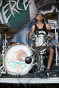 Pierce The Veil performing at Warped Tour at the Verizon Wireless Amphitheater in St. Louis on July 5, 2012.