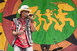 May 3, 2018 - New Orleans, Louisiana, U.S - CYRIL NEVILLE during 2018 New Orleans Jazz and Heritage Festival at Race Course Fair Grounds in New Orleans, Louisiana (Credit Image: © Daniel DeSlover via ZUMA Wire)