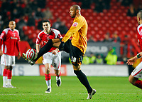 Photo: Leigh Quinnell/Sportsbeat Images.<br /> Charlton Athletic v Hull City. Coca Cola Championship. 22/12/2007. Hulls Caleb Folan collects the ball.