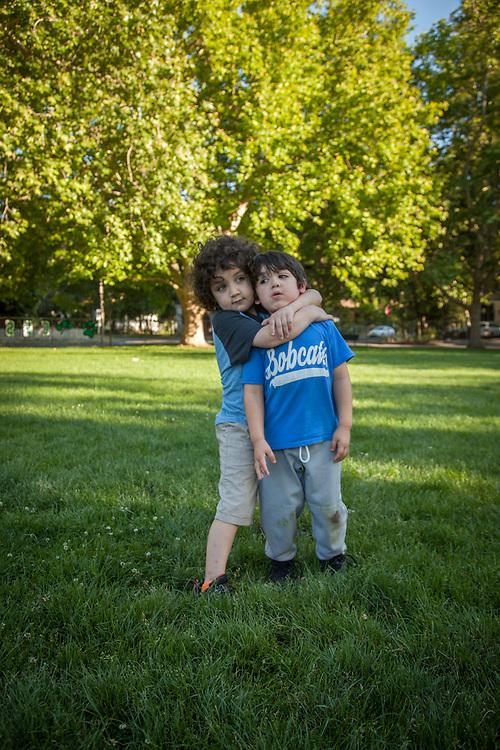 More than brothers, four year old Ivan donated bone marrow for his six year old brother, Marlon, one year ago. Marlon's lukemia has been in remission since. Marlon was at Calistoga Elementary School to watch his brother's last T-ball game of the season .