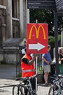 London. UK - mac donald sign, Greenwich ,  London SE10 England  / publicite mac donald greenwich ,