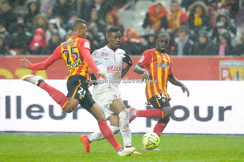 Jean Philippe Gbamin / Divock Origi / Boubacar Sylla - 07.12.2014 - Lens / Lille - 17eme journee de Ligue 1<br />Photo : Andre Ferreira / Icon Sport