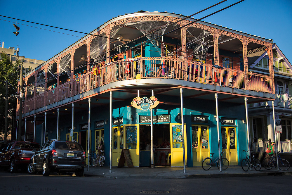 Frenchman Street in the Faugburg Maringy neighborhood in New Orleans, the weekend before Halloween.