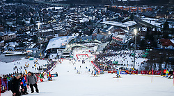 26.01.2016, Planai, Schladming, AUT, FIS Weltcup Ski Alpin, Schladming, Slalom, Herren, 1. Durchgang, im Bild Übersicht des Hanges und Schladming // view of the slope and Schladming before 1st run of men's Slalom Race of Schladming FIS Ski Alpine World Cup at the Planai in Schladming, Austria on 2016/01/26. EXPA Pictures © 2016, PhotoCredit: EXPA/ Johann Groder