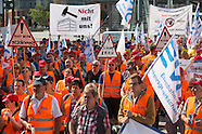 Rail worker protest in Berlin