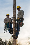 East Central Electric Cooperative linemen for Oklahoma Living Magazine