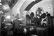 11/05/1965<br /> 05/11/1965<br /> 11 May 1965<br /> Archbishop McCann, primate of all Ireland, addresses the 32nd Synod of the Church of Ireland at Christchurch Cathedral on May 11, 1965.