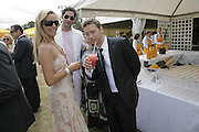 Tamzin Outhwaite, Tom Ellis and Dexter Fletcher. Veuve Clicquot Gold Cup 2006. Final day. 23 July 2006. ONE TIME USE ONLY - DO NOT ARCHIVE  © Copyright Photograph by Dafydd Jones 66 Stockwell Park Rd. London SW9 0DA Tel 020 7733 0108 www.dafjones.com