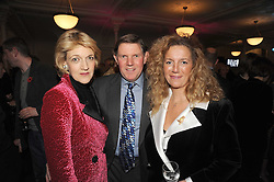 Left to right, FIONA SHACKLETON, IAN SHACKLETON and LADY APSLEY at a party to celebrate the publication of 'Past Imperfect' by Julian Fellowes held at Cadogan Hall, 5 Sloane Terrace, London SW1 on 4th November 2008.