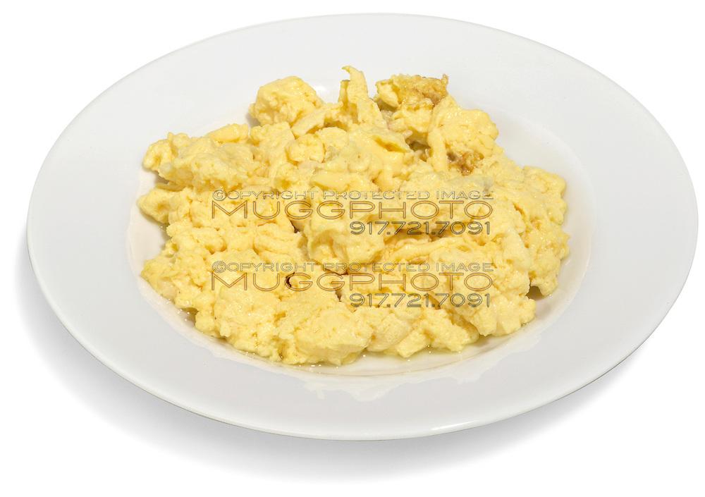 bowl of scrambled eggs
