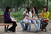 Beijing Zoo. Young girls.