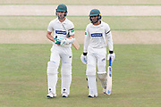 Hassan Azad & Colin Ackemann at  during the Specsavers County Champ Div 2 match between Gloucestershire County Cricket Club and Leicestershire County Cricket Club at the Cheltenham College Ground, Cheltenham, United Kingdom on 18 July 2019.