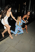 EXCLUSIVE<br /> Lauren Goodman, Love Island Kate Salmon and Jess Hayes out at Kiru Restaurant last night ,<br /> ©Exclusivepix Media