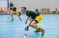 ROTTERDAM - Noud Schoenaker (Den Bosch)  heren Den Bosch-HIC,   ,hoofdklasse competitie  zaalhockey.   COPYRIGHT  KOEN SUYK