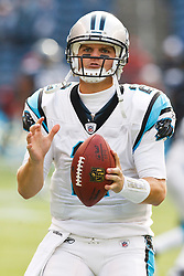 December 5, 2010; Seattle, WA, USA;  Carolina Panthers quarterback Jimmy Clausen (2) warms up before the game against the Seattle Seahawks at Qwest Field.