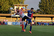 George Oakley during the match between Kingstonian and AFC Wimbledon at the Cherry Red Records Stadium, Kingston, England on 30 July 2015. Photo by Stuart Butcher.