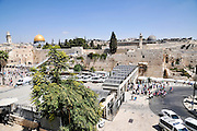 Israel, Jerusalem Old City, Temple mount Dome of the Rock (Left) and Al-Aqsa Mosque