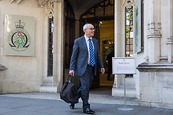 London, UK. 18 September, 2019. Lord Pannick QC, acting for businesswoman Gina Miller, leaves the Supreme Court at the end of the second day of a hearing to consider whether the Prime Minister broke the law by suspending Parliament in advance of Brexit Day. The purpose of the hearing is to adjudicate as to which of two court rulings should prevail, either a ruling by the High Court that the suspension of Parliament is a political decision to be made by the Prime Minister or a ruling by the Scottish courts that the Prime Minister's actions in proroguing Parliament were unlawful. Credit: Mark Kerrison/Alamy Live News