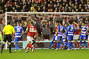 QPR goalkeeper Alex Smithies makes a save during the Sky Bet Championship match between Nottingham Forest and Queens Park Rangers at the City Ground, Nottingham, England on 26 January 2016. Photo by Aaron Lupton.