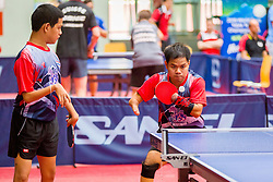 (Team THA) THAINIYOM Rungroj and PUNPOO Chalermpong in action during 15th Slovenia Open - Thermana Lasko 2018 Table Tennis for the Disabled, on May 10, 2018 in Dvorana Tri Lilije, Lasko, Slovenia. Photo by Ziga Zupan / Sportida