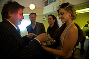 DANNY MOYNIHAN, TEDDY ST. AUBYN, AND TRIXIE MALICIOUS. book launch for 'Private Collection' by Danny Moynihan. Hix Oyster and Chop House. Cowcross st. London. 12 June 2008.  *** Local Caption *** -DO NOT ARCHIVE-© Copyright Photograph by Dafydd Jones. 248 Clapham Rd. London SW9 0PZ. Tel 0207 820 0771. www.dafjones.com.