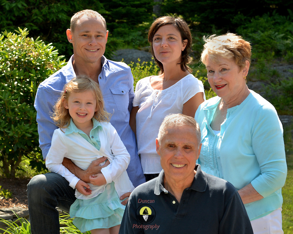 GEORGETOWN, Maine -- 6/30/14 -- Zike Family  portrait. DSC_2482<br /> Photo  &copy;2014 by Roger S. Duncan <br /> Released for all purposes to Zike Family