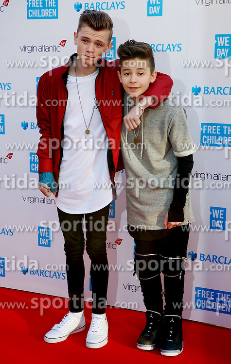 Bars and Melody at WE Day, London, Britain 5th March 2015. EXPA Pictures &copy; 2015, PhotoCredit: EXPA/ Photoshot/ James Shaw<br /> <br /> *****ATTENTION - for AUT, SLO, CRO, SRB, BIH, MAZ only*****