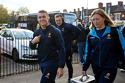 Jamie Shillcock of Worcester Warriors arrives at Welford Road - Mandatory by-line: Robbie Stephenson/JMP - 03/11/2018 - RUGBY - Welford Road Stadium - Leicester, England - Leicester Tigers v Worcester Warriors - Gallagher Premiership Rugby