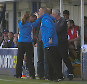 Douglas Imrie receives treatment for a head knock - Greenock Morton v Dundee, SPFL Championship at Cappielow<br /> <br />  - &copy; David Young - www.davidyoungphoto.co.uk - email: davidyoungphoto@gmail.com