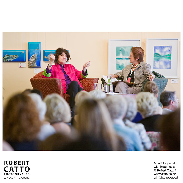 Writer Ruth Reichl talks about her work during the New Zealand International Arts Festival 2008 in Wellington.