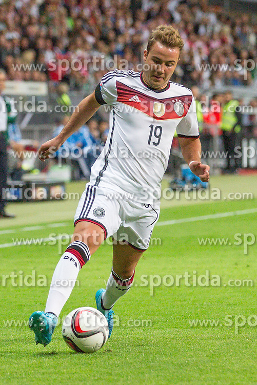 04.09.2015, Commerzbank Arena, Frankfurt, GER, UEFA Euro Qualifikation, Deutschland vs Polen, Gruppe D, im Bild Marion Goetze (FC Bayern Muenchen) // during the UEFA EURO 2016 qualifier Group D match between Germany and Poland at the Commerzbank Arena in Frankfurt, Germany on 2015/09/04. EXPA Pictures &copy; 2015, PhotoCredit: EXPA/ Eibner-Pressefoto/ Sch&uuml;ler<br /> <br /> *****ATTENTION - OUT of GER*****