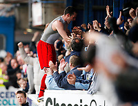 Photo: Richard Lane/Richard Lane Photography. <br /> Colchester United v Coventry City. Coca Cola Championship. 19/04/2008. City's Michael Doyle celebrates his goal by jumping into the fans.